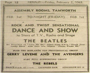 The Beatles at the Assembly Rooms - 01/02/63