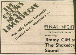 Crows Nest Discotheque – Final Night Jimmy Cliff and Shakedown Sound