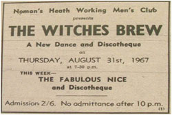 The Witches Brew - A New Dance and Discotheque