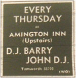 Every Thursday - Barry John Disco - Amington Inn