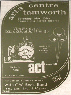 07/12/77 - Willow - Tamworth Arts Centre
