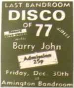 30/12/77 - Last Bandroom Disco of '77, DJ Barry John, Amington Band Room