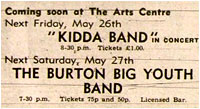 26/05/78 - Kidda Band, Tamworth Arts Centre