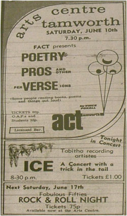 09/06/78 - ICE, Tamworth Arts Centre