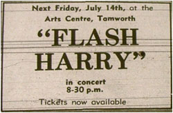 14/07/78 - Flash Harry, Tamworth Arts Centre