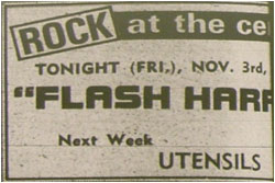 31/10/78 - Flash Harry, Tamworth Arts Centre