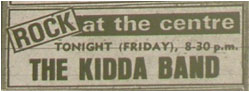 01/12/78 - The Kidda Band, Tamworth Arts Centre