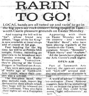 16/04/79 Arts Festival Castle Grounds Ice, Brewster, Ramblin' Band, Flash Harry, Asylum