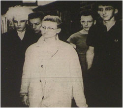 Caption: Femme fatale…the first major show for one of Tamworth's most original sounding bands. From left Nigel Horton, Jimmy Goodman, Debbie Witty, Mark Poyner and Martin Higgs.