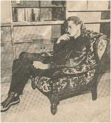 Caption: EDWARD IAN ARMCHAIR – bowing out of the local scene tonight